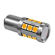 1 шт., новинка 2019, СВЕТОДИОДНАЯ Лампа PY21W BAU15S с чипами 3030, автомобильная лампа заднего указателя направления, 1156PY 7507, автомобисветильник перед...