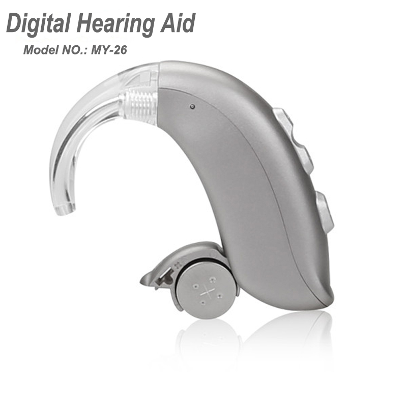 Built-in Tinnitus Masker 8 Channels 3rd DFC Digital Programming RIC Mini Hearing Aids MY-26 Adjustable Amplifier Super Quiet programmable digital 6 channels ric reaceiver in the ear canal hearing aids with battery 312 my 19