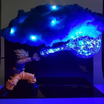 Светодиодная лампа Dragon Ball Son Goku Kamehameha, Ночной светильник, настольная лампа Figuras Dragon Ball Lampara DBZ Goku Cloud, DIY светильник, набор