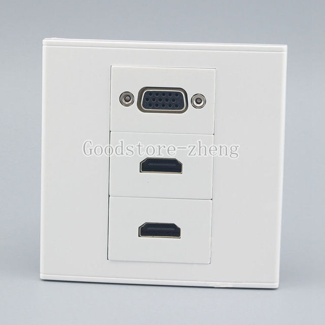 wall face plate vga outlet dual hdmi socket media assorted panel HDMI Computer wall face plate vga outlet dual hdmi socket media assorted panel faceplate