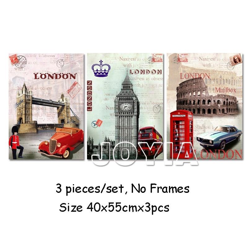 3 կտոր Պատի նկարներ Եվրոպա ոճ - Տնային դեկոր - Լուսանկար 4