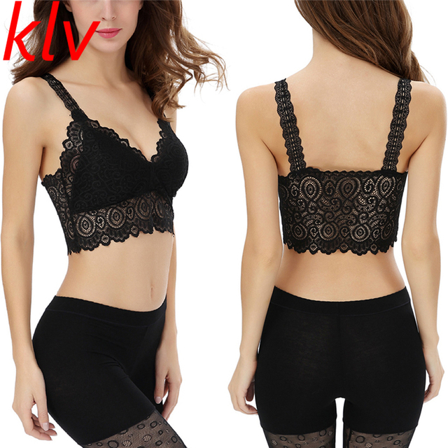 be8e658791 KLV Delicate Hot! Summer Style Fashion Lady Lace Camisole Sexy Womens  Strappy Crop Top Tank Bustier Bra Corset Vest wholesale