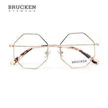 2018 Octagon Elegante Mulheres Óculos de Armação De Metal Mulheres Voga  Prescrição Miopia Óculos Frame Ótico Óculos de Armação e82d08b807