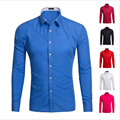 Slim Fit Casual Men Shirt Classical Solid color Shirt  British Stylish Long Sleeve Camisa Masculina Wedding Dress Shirts Tops