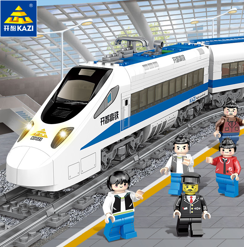 New KAZI 98227 GBL Battery Powered Electric Train High-speed Rail DIY Building Blocks 474PCS Bricks Gift toys for children Legoe