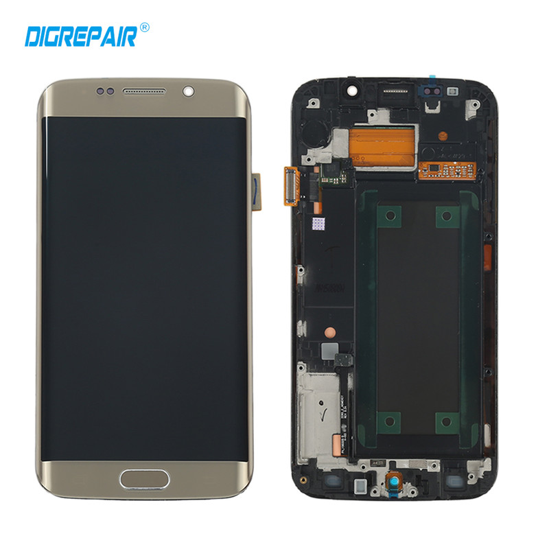 AAA Golden for Samsung Galaxy S6 edge G925F G925I LCD Display Touch Screen Digitizer Assembly with