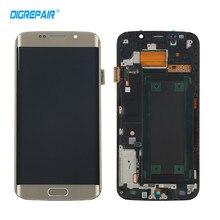 AAA + Goldene für Samsung Galaxy S6 rand G925F G925I LCD Display Touchscreen Digitizer Montage mit Rahmen, Freies verschiffen