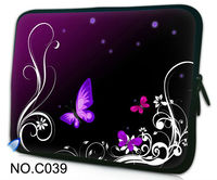 Фиолетовая бабочка сумка рукавом Обложка для 7