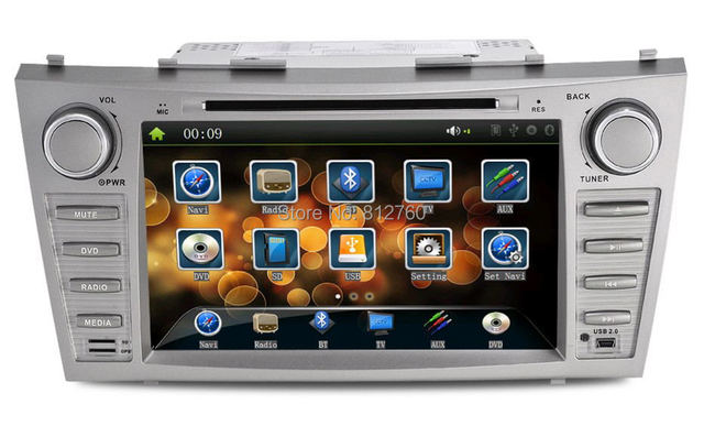 """Factory price 8""""Toyota Camry Car DVD Player with GPS Bluetooth TV Radio RDS IPOD SD/USB port,Rear camera input,Free gps map"""