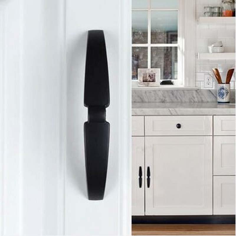160mm modern fashion furniture door handles shiny silver bla