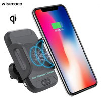 car qi fast wireless charger wireless phone fast charge wireless charging stand for iphone x 8 for samsung galaxy s8 S9 s7 edge