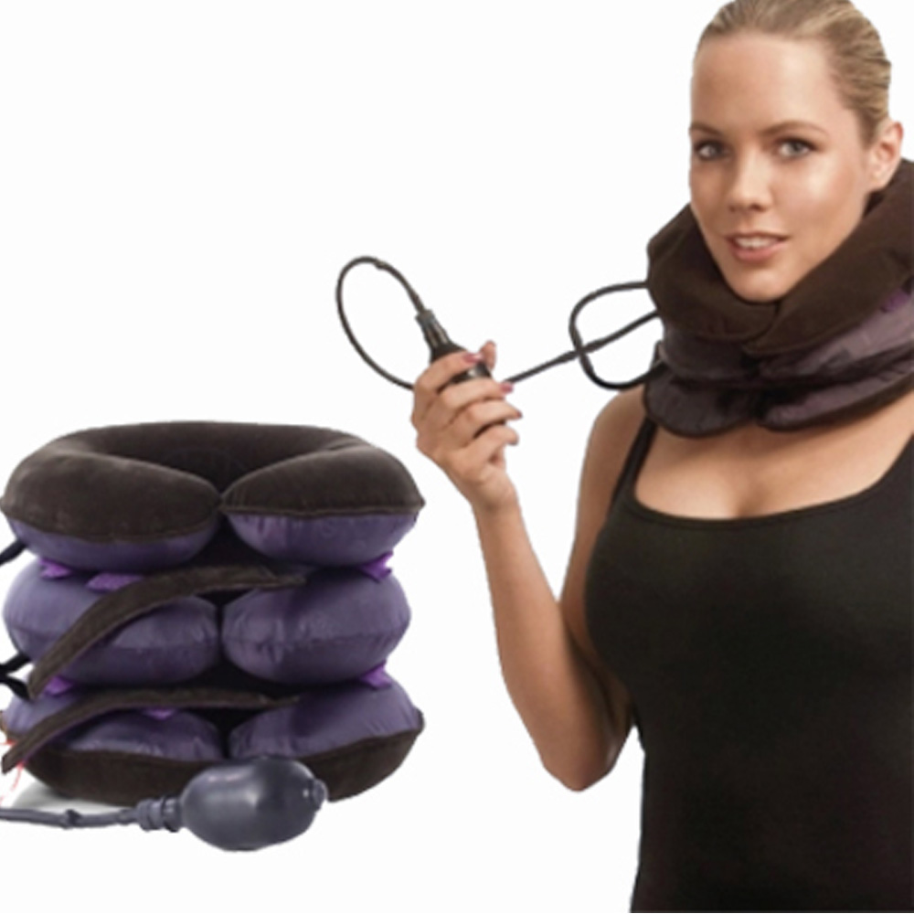 Neck Pillow Massager Relaxation Relieve Fatigue Tension Neck Massager Inflatable Cervical Traction Health Relaxation Massager kingcamp neck pillow