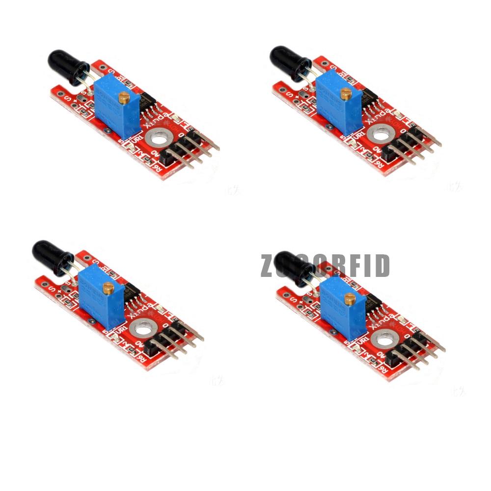 10pcs/lot Flame Sensor Module IR Sensor Detector For Temperature Detecting Suitable For Arduino