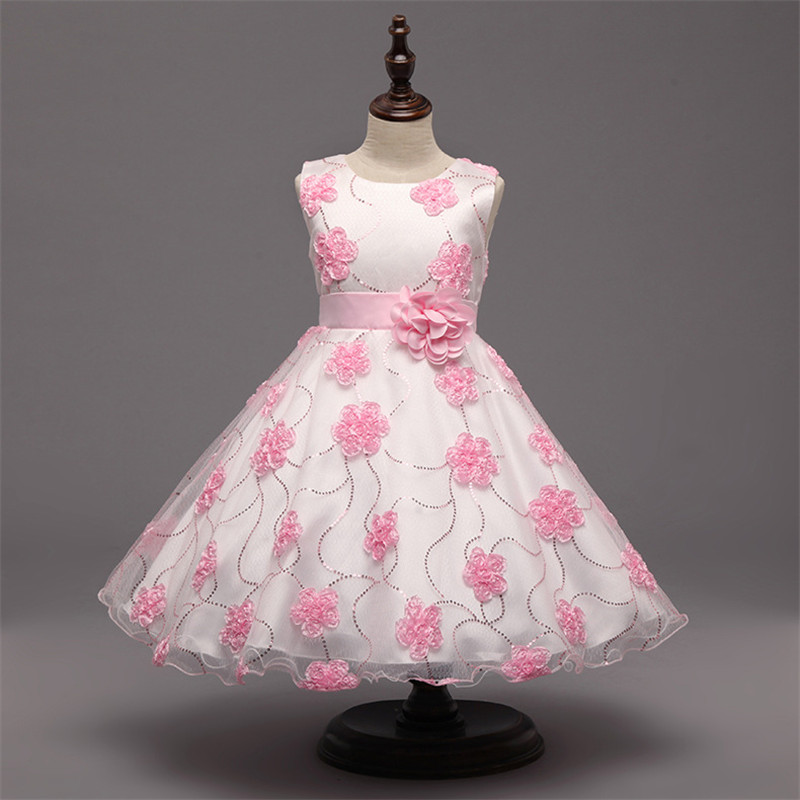 New Tutu Girl Flower Dress For Wedding Party Elegant Christening Gown Princess Dresses Floal Kids Evening Prom 10 Years girls dress 2017 new summer flower kids party dresses for wedding children s princess girl evening prom toddler beading clothes