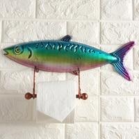 Tuna creative kitchen bathroom roll holder Toilet wall mounted paper towel holder tissue box Bathroom toilet paper holder