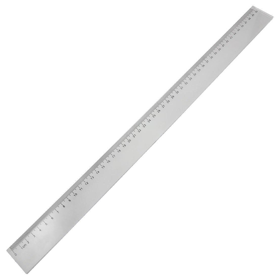 BLEL Hot 50cm Clear Plastic Measuring Long Straight Centimeter Ruler