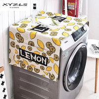 XYZLS Cartoon Lemon Dual purpose Washing Machine Cover Dust Proof Cover with Storage Pocket for Kitchen Refrigerator 1Piece