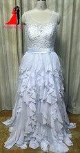 New White Plus Size Chiffon A Line font b Wedding b font Dresses 2017 Illusion Top