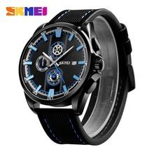 SKMEI Men's Watches Quartz Watch Fashion Wristwatches Multi-dial Calendar Stopwatch Waterproof Quartz Watches Relogio Masculino все цены