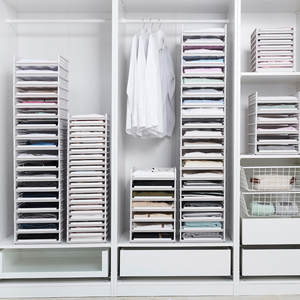 Organizer Wardrobe Storage-Rack Drawer Partition Bedroom Detachable Multi-Layer