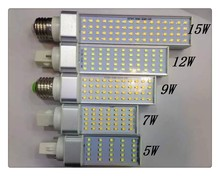 5W 7W 9W 12W 15W E27 G24 G23 LED Corn Bulb Lamp Bombillas Light SMD 2835 Spotlight 180 Degree AC85-265V Horizontal Plug Light(China)
