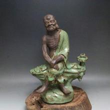 Антикварная старинная династия песен фарфоровая статуэтка, зеленая глазурь, скульптура божества, ручная работа, декоративная коллекция и украшение