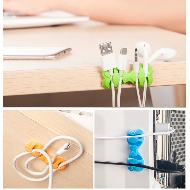 050 Wire Fixing Clamp Clip Desktop Wire Clips Holder Clamps Cable Clip Device Cord Clips Holder Organiser 5 5 2 3cm in Cable Clips from Home Improvement
