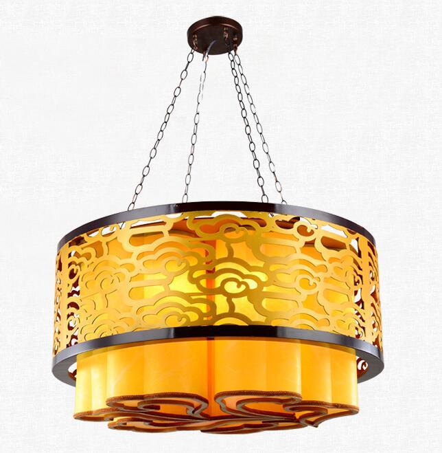 Новый современный китайский стиль антикварная люстра гостиная лампы твердые деревянные ресторане отеля освещение лампы