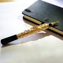 Christmas gifts for him and party supplies wholesale Luxury gold color pen with nice gift box  2 pcs a lot