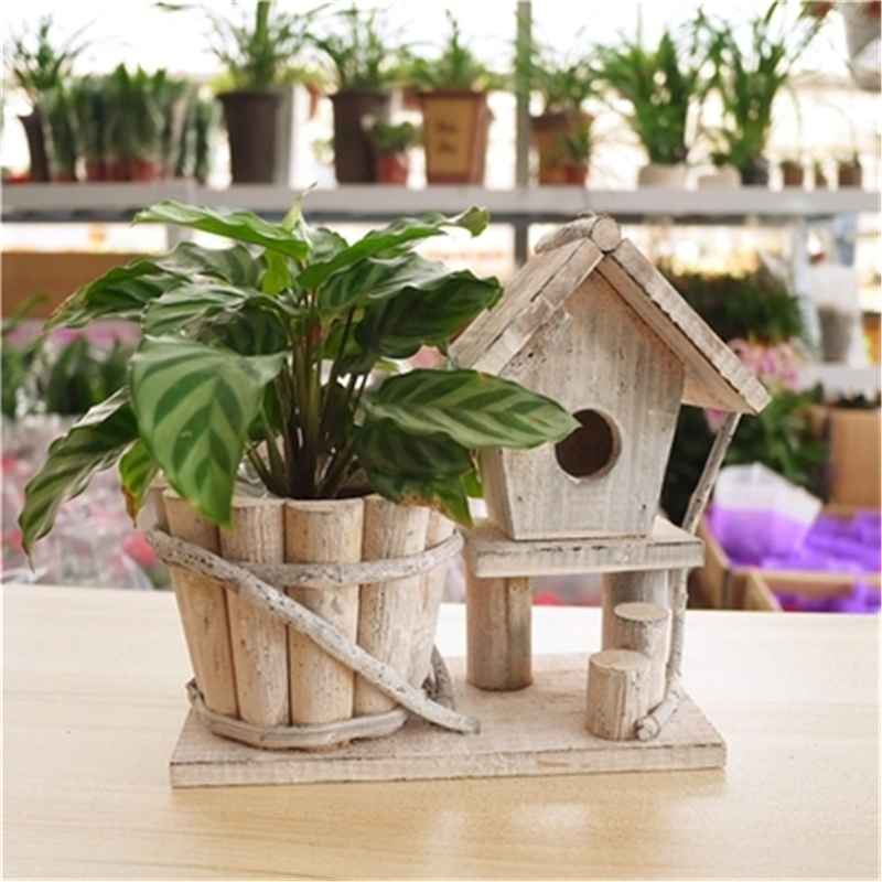 Online buy wholesale wooden box planters from china wooden - Wooden containers for flowers ...