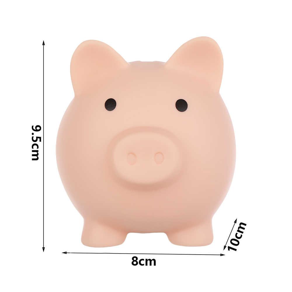 1PC Cartoon תיבת כסף פיגי חזיר בצורת חיסכון צנצנת יום הולדת מתנה מטבעות אחסון תיבת בית תפאורה שולחן העבודה קישוט חג המולד צעצועים