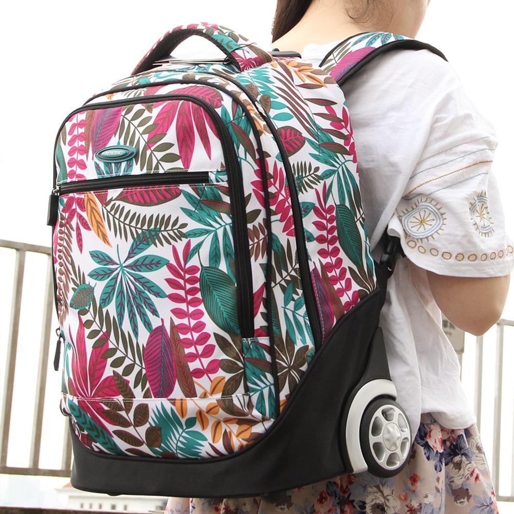 Aoking Fresh College School Flickor Trolley Ryggsäck Väskor Vackra - Väskor för bagage och resor - Foto 5