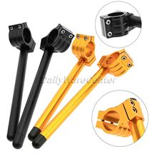 CNC 1Pair 38MM Universal Racing Adjustable Clip On Ons Fork Handlebars Handle Bar for Racer Motorcycle Motorbike