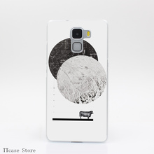 525G Calculating a Jump Over The Moon Print Transparent Hard Back Cover Case for Huawei Ascend P6 P7 P8 Lite Honor 4X 4C 6 7 G7