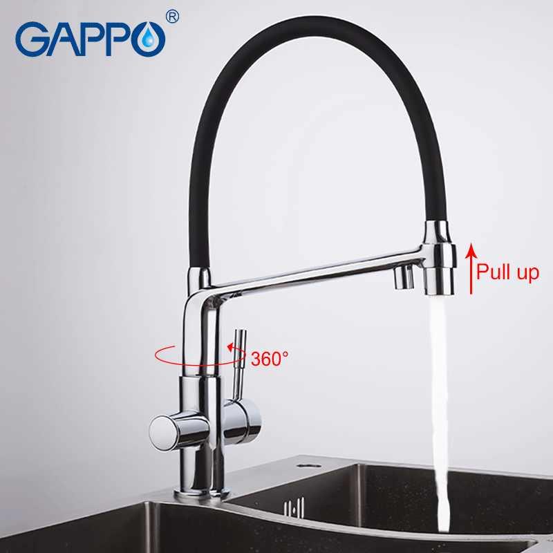 Gappo Kran Dapur Dual Menangani Rotatable Keran Dapur Menarik Filter Keran Dapur Air Minum Mixer Torneira Dapur