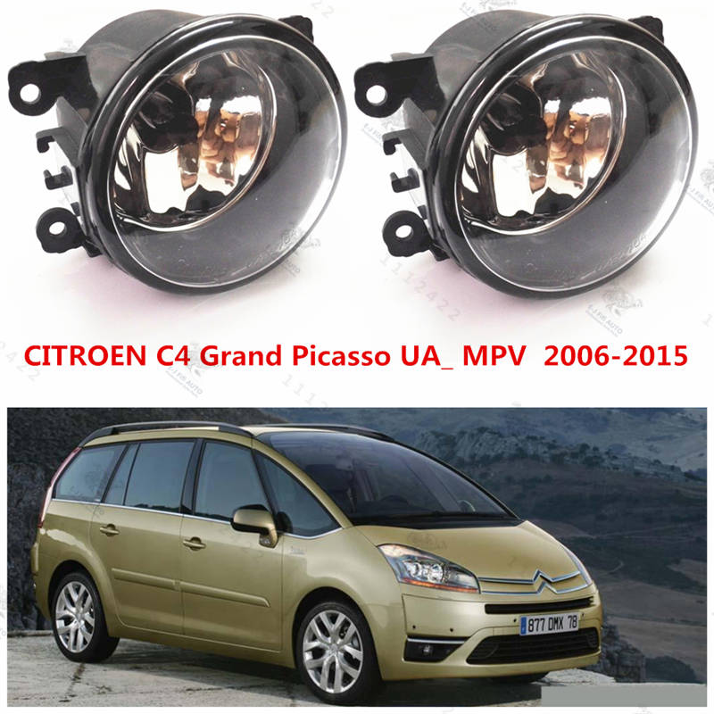 For citroen C4 Grand Picasso 2006-2015  Car styling Fog Lights  Front bumper fog lamps  halogen  1 SET  (Left + right)   6206.39 коврик в багажник citroen grand c4 picasso 09 2006 &gt мв полиуретан