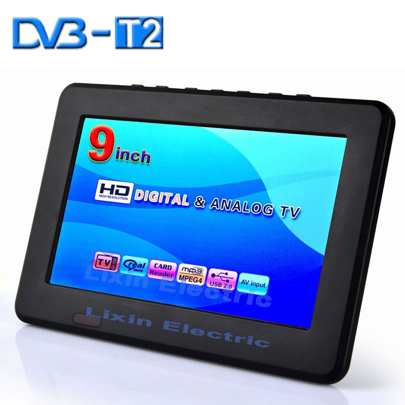 2016 newhd tv 9 inch dvb t2 dvb t digital and analog mini led hd portable tv all in 1 support. Black Bedroom Furniture Sets. Home Design Ideas