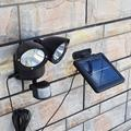 Solar Tuin Licht Aangedreven 22LED Dual Head Flood Veiligheid Buiten Licht PIR Motion Sensor Path Wandlampen Nood Schijnwerper