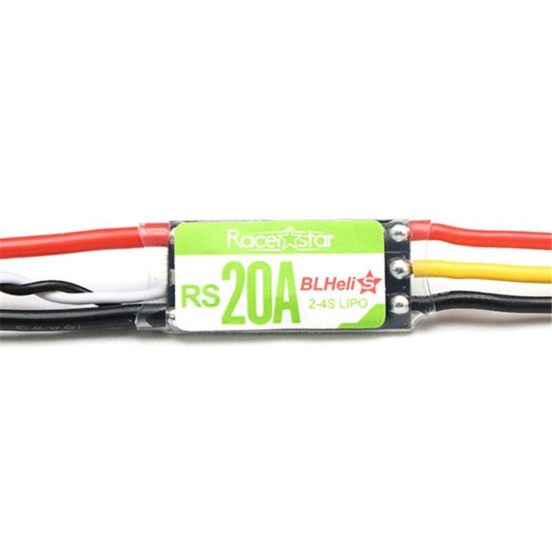 Original Racerstar RS20A 20A BLHELI S OPTO 2 4S ESC Support Oneshot42 Multishot For FPV Racing