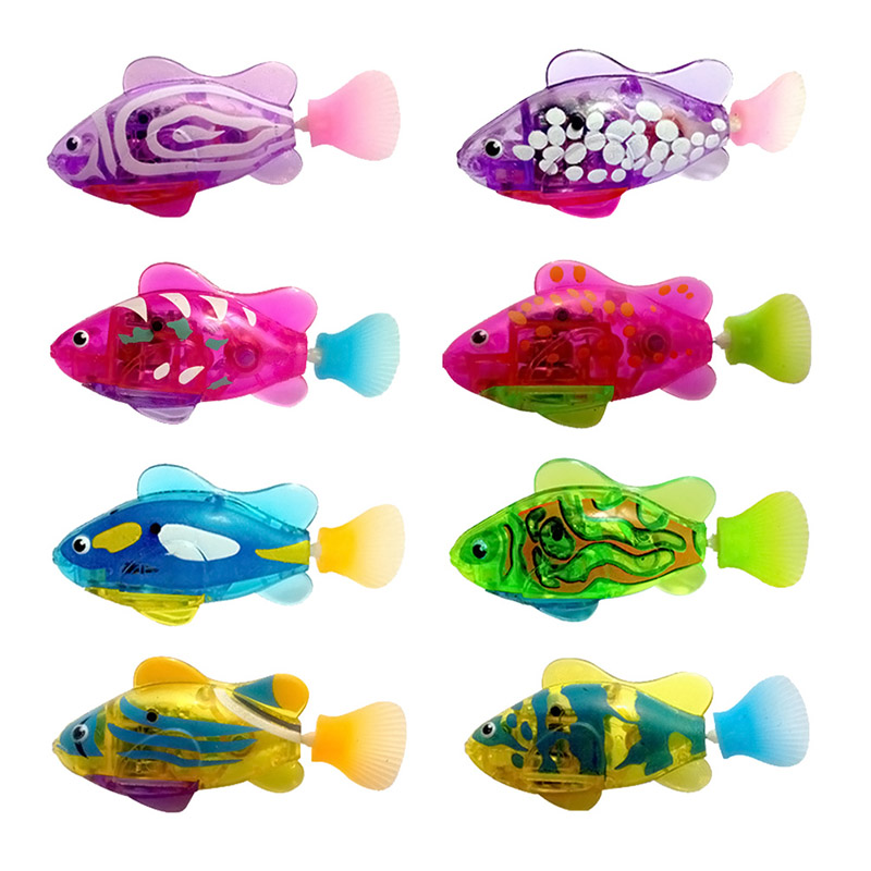1PC Swimming Electronic Fish Activated Battery Robofish Powered Toy For Children Kid Bathing Toys Gift Random Color @ZJF random color hook 1pc