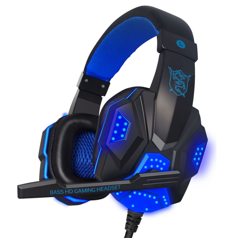 High quality Gaming Headset Big earphone Cool Glowing Stereo Headphone with Microphone for computer PC Gamer