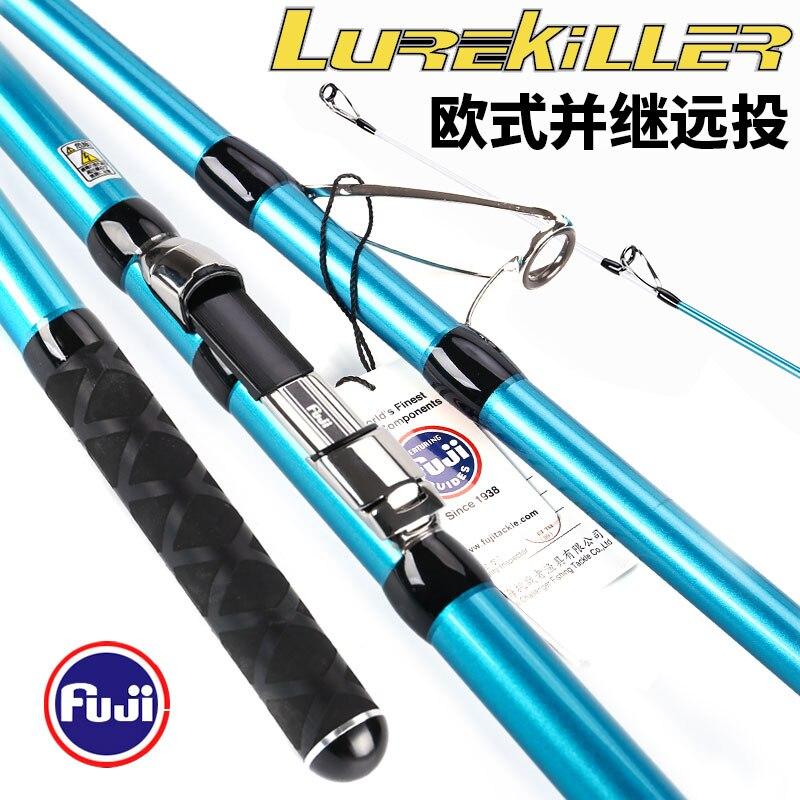 Nouvelle canne à pêche japon génération 4.2 M 3 Sections Fuji Guides tige de filature longue fonte canne de Surf 100-250G Fuji bobine siège canne de plage
