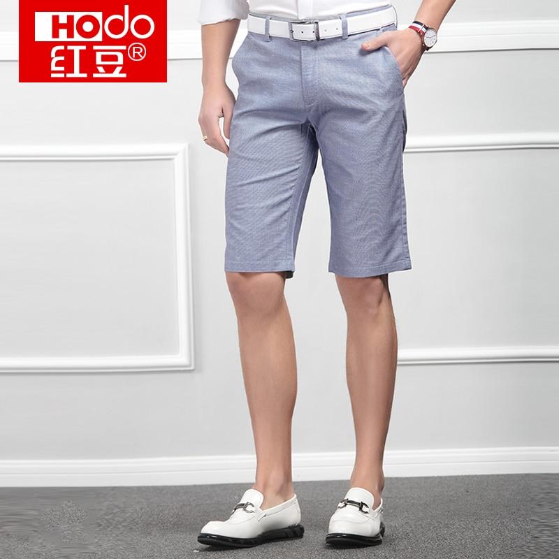 88cfe942ca13 Hodo Men Shorts Knee-Length Smart Casual Spring Summer Men Clothes2018 High  Quality Pockets Man Mid Waist Blue Shorts DMHGK613B