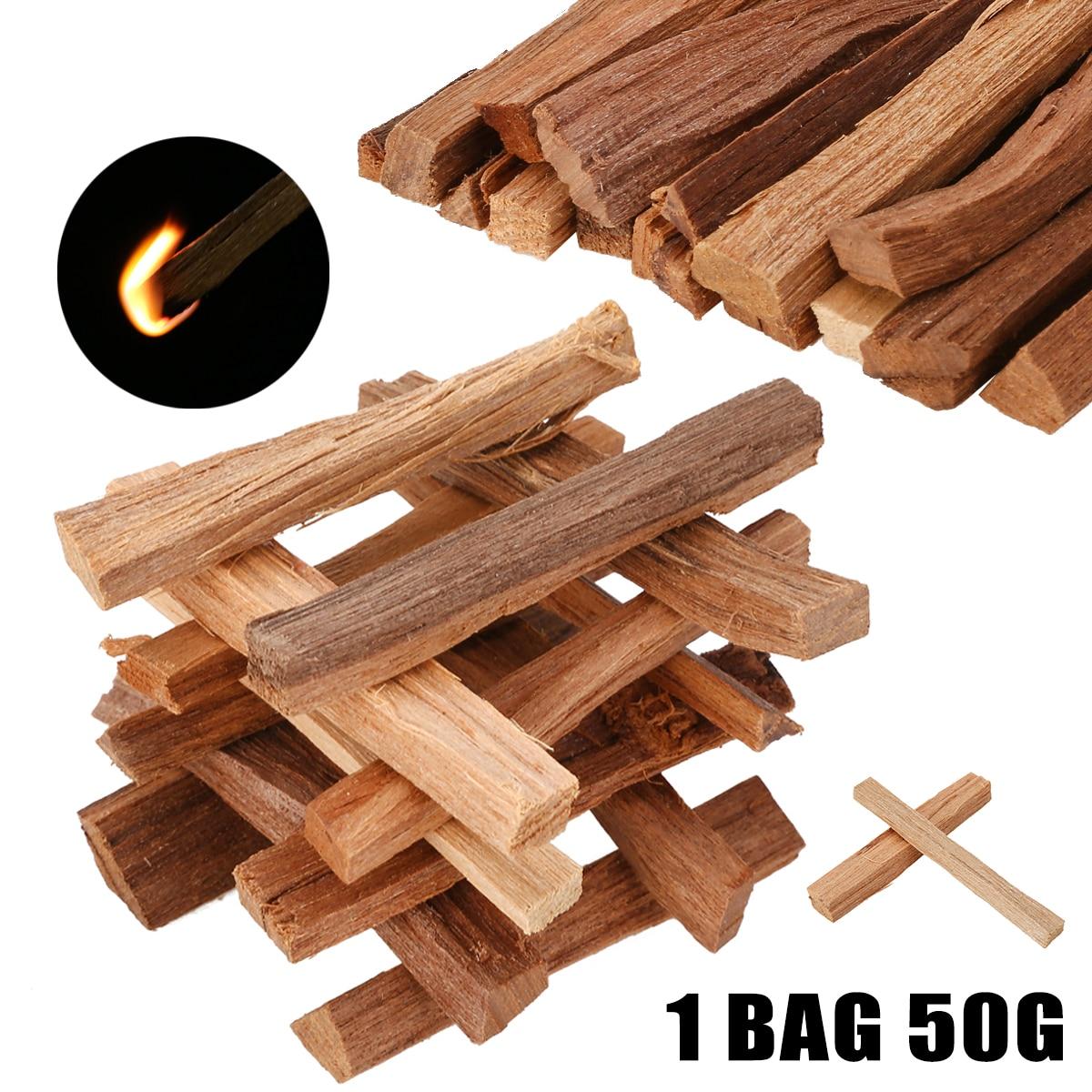 1 Bag 50g Natural Sandalwood Chips Small Logs Of Sticks Wood Incense Sticks Irregular Resin Incense 7CM For Home Decor