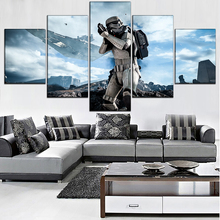 Star Wars Movie 5 Piece Home Decor Canvas Modern HD Print Wall Art For Living Room Painting Artwork