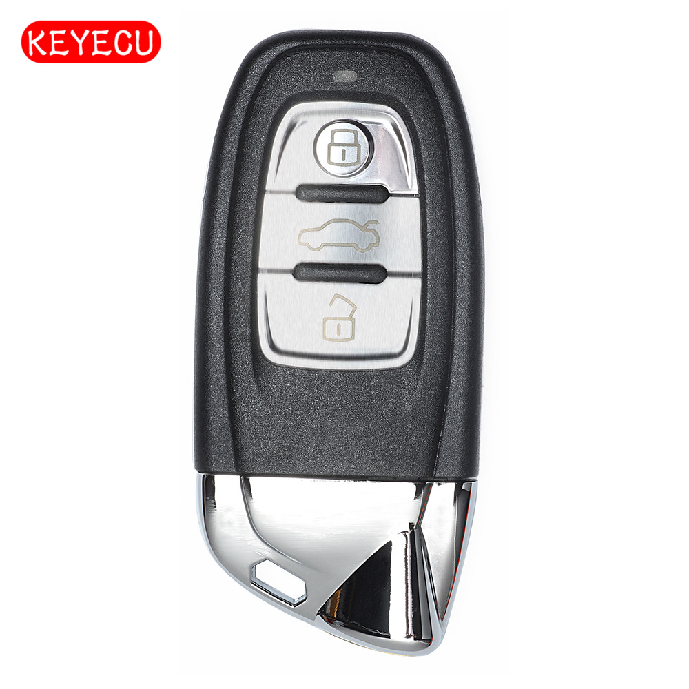 Keyecu clé à distance intelligente Keyecu 3 boutons 868 MHz Fob modifié comme L * amborghini pour Audi FCC: 8T0 959 754 C/8T0 959 754 J