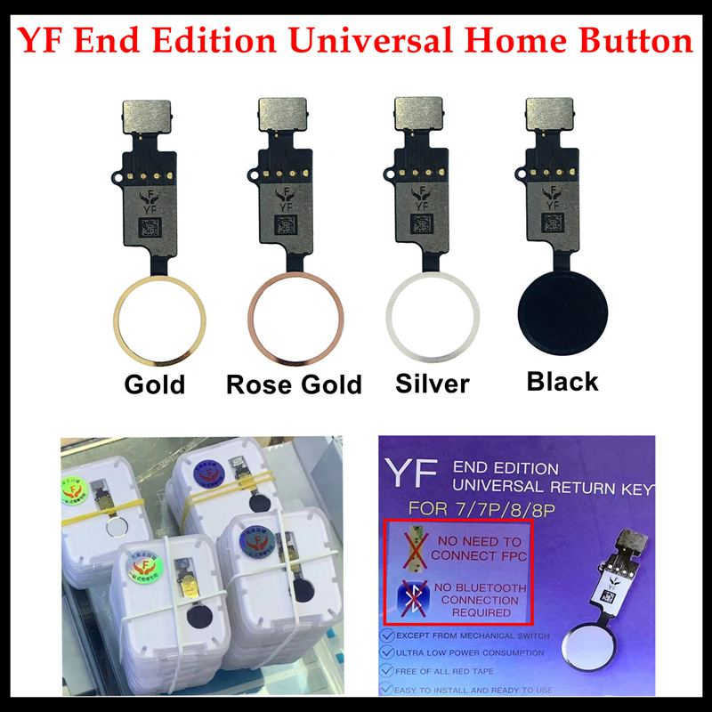 YF End Edition Universal Home Button Flex Cable For IPhone 7 / 7P / 8 / 8 Plus Return Key 4 Colors Replacement