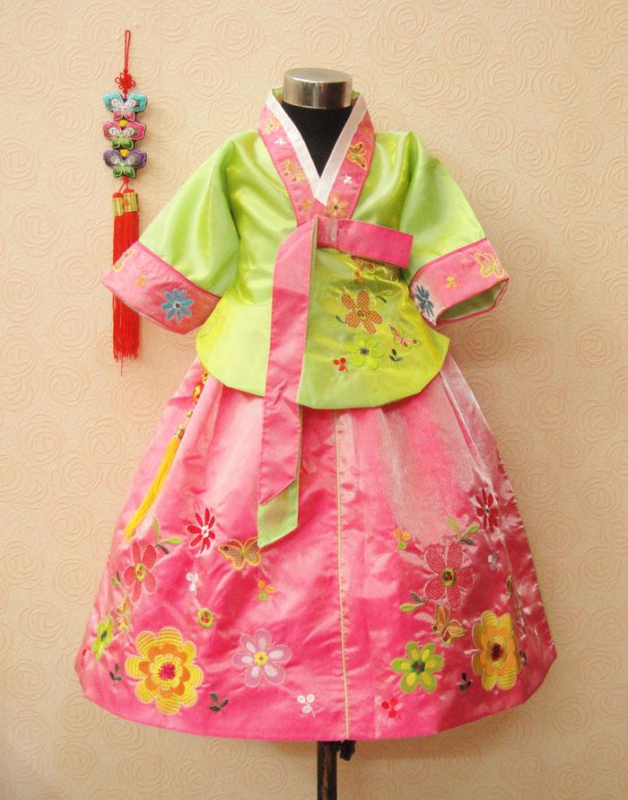 Trušu meiteņu hanbok bērnu apģērbu kleita pavasara un rudens - Bērnu apģērbi - Foto 3