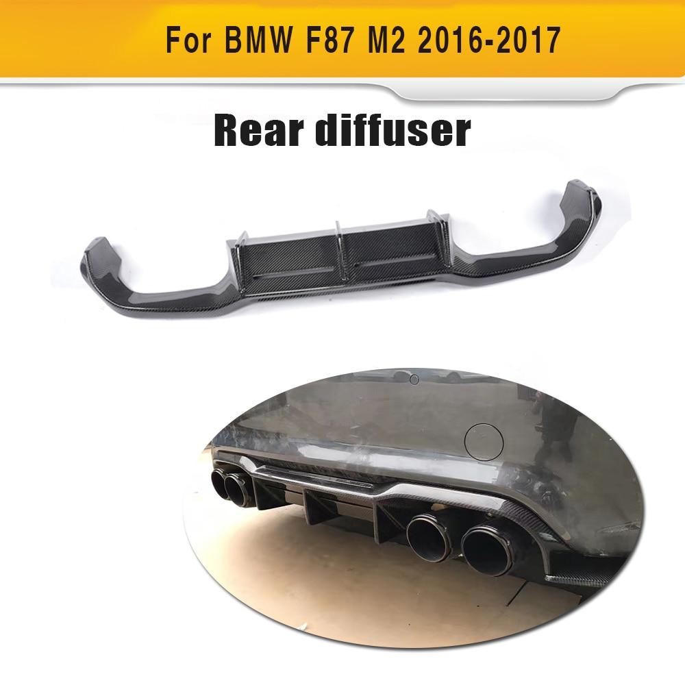 где купить Carbon Fiber Rear Bumper Diffuser Lip Spoiler for BMW F87 M2 Coupe 2 Door 2016 2017 MTC Style Black FRP дешево