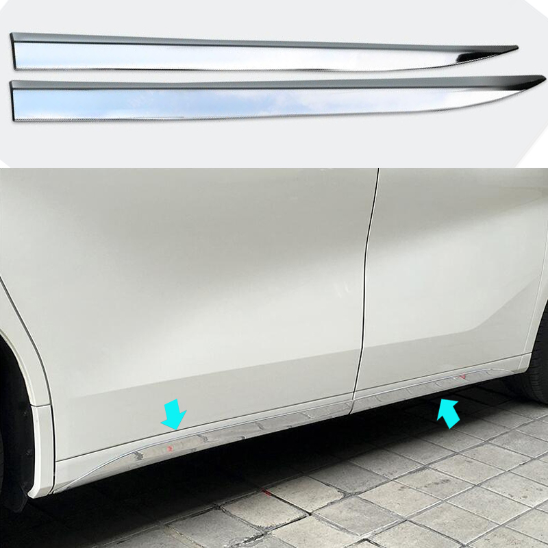 DEE Car Accessory for Toyota Alphard Vellfire 2015 2016 Body Side Moulding Strip ABS Chrome Decoration Rabbing Trim Frame Refit car styling abs chrome body side moldings side door decoration for hyundai ix35